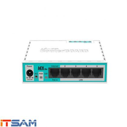 روتر میکروتیک 5 پورت hEX Lite RB750r2